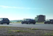 Tesla Model 3 выставили против BMW M3 и Audi RS4
